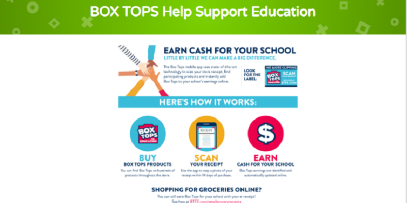 BOX TOPS Help Support Education